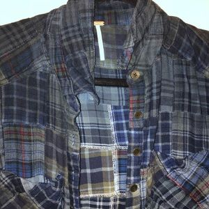 Free People Tops - Free people plaid button down